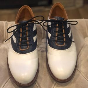 Ecco hyor max navy and white golf shoes.